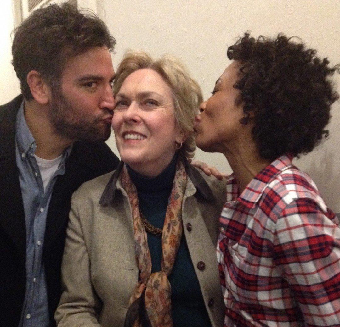 Josh kissing